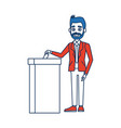 voting election concept with man putting vote vector image vector image