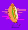 walking hot dog vector image