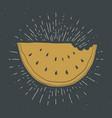 watermelon vintage label grunge textured retro vector image vector image
