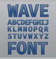 wave vintage font poster vector image vector image