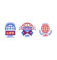 world news logo original design set retro social vector image
