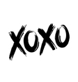 XOXO hugs and kisses vector image