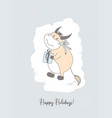 year bull funny bulls characters cute ox vector image vector image