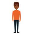young man black avatar character vector image