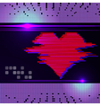 Abstract heart monitor on a dark background vector image