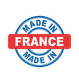 made in france emblem flat vector image