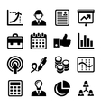 Business Management and Human Resources Icons Set vector image