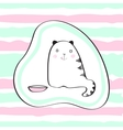 Cute cat for baby t-shirts vector image