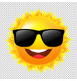 yellow sun with sunglasses vector image