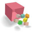 abstract cubes design vector image vector image