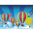 Air Balloons in the Sky2 vector image vector image