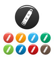 alarm whistle icons set color vector image vector image