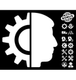 android robotics icon with tools bonus