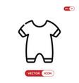 baby pajama icon vector image vector image