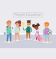back to school kids school education concept vector image vector image