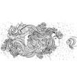 beautiful mermaid girl with magic hair profile of vector image vector image