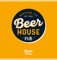 beer house logo beer pub brewing company vector image vector image