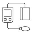blood sphygmomanometer thin line icon medical vector image vector image
