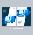blue brochure cover template layout design vector image vector image