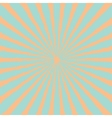 Blue orange sunburst starburst with ray of light vector image vector image