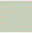 Blue orange sunburst starburst with ray of light vector image