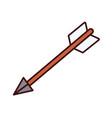 bow arrow symbol vector image vector image