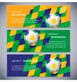 brazil banners vector image vector image