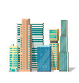 buildings modern city vector image vector image