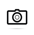 camera black icon on white background vector image vector image