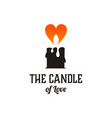 candle and love logo design inspiration vector image vector image