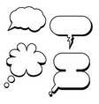 cartoon classic speech bubbles comic bubbles vector image