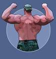 cartoon huge man standing from the back in a vector image vector image
