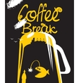 coffee break with the dream of the sea vector image vector image