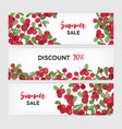 collection horizontal banner templates vector image vector image