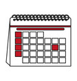 color contour cartoon calendar with indicated day vector image vector image