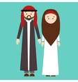 couple man woman wearing arab arabic traditional vector image vector image