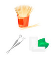 dental care cartoon icons in set collection for vector image vector image