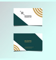 double-sided horizontal modern business card vector image vector image