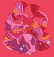 Fantasy tulip print vector image vector image