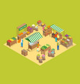 farm local market concept 3d isometric view vector image