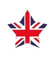 Flag and star shape icon United kingdom design vector image vector image
