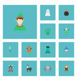 flat icons flying hell wizard and other vector image