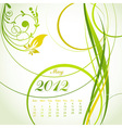 floral calendar 2012 may vector image