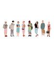 full-length students multicultural students vector image