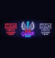 guitar shop neon sign design template vector image