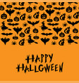 Halloween symbols horizontal ornament greeting
