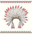 Hand drawn native american indian chief headdress vector image