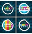 happy birthday stickers vector image vector image