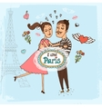 I Love Paris hand-drawn vector image vector image