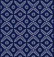 indigo blue hand drawn seamless pattern vector image